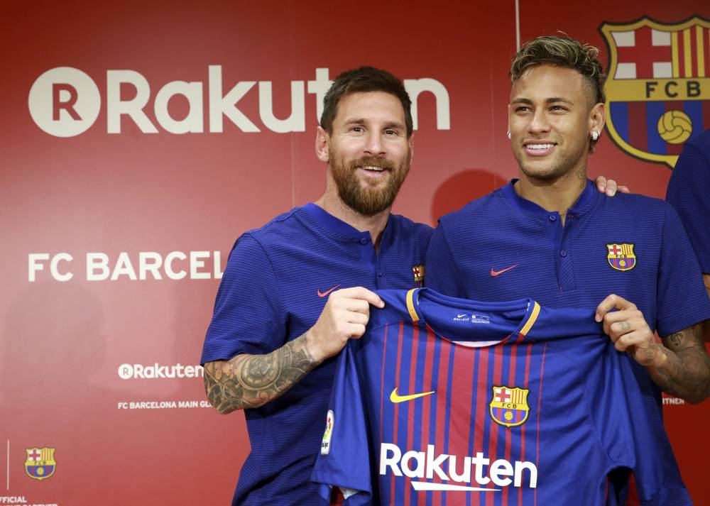 FC Barcelona sponsored by  Rakuten