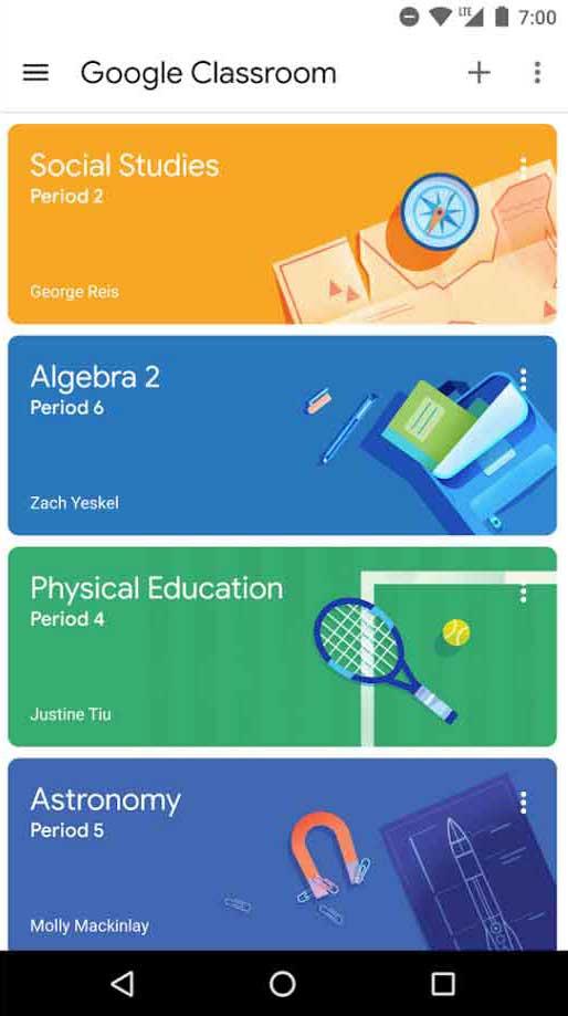 Google Classroom eLearning platform